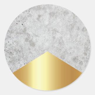 Adesivo Redondo Ouro concreto #372 da seta