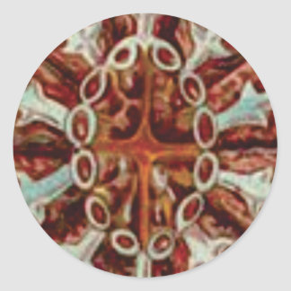 Adesivo Redondo oval das figuras e das formas