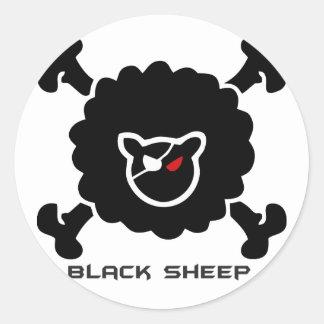 Adesivo Redondo Ovelha Negra