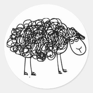 Adesivo Redondo Ovelhas negras do logotipo de NYAHM