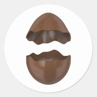 Adesivo Redondo Ovo de chocolate quebrado