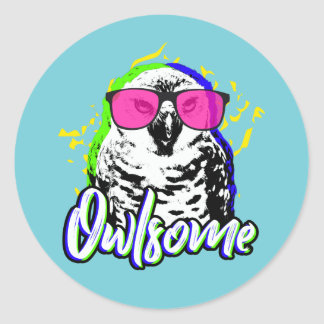 Adesivo Redondo Owlsome