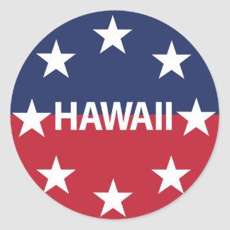 Adesivo Redondo Padrão do governador de Hawaiʻi