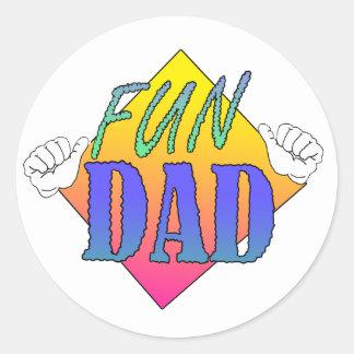 Adesivo Redondo Pai do divertimento