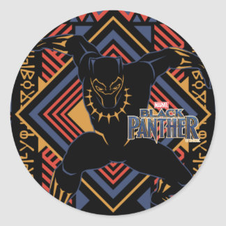Adesivo Redondo Painel da pantera preta de pantera preta |