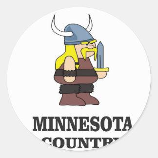 Adesivo Redondo País de Minnesota