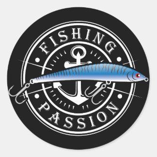 Adesivo Redondo Paixão da pesca