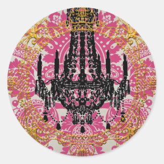 Adesivo Redondo Palácio de Kali, deusa do tempo, selos do envelope