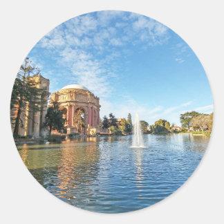 Adesivo Redondo Palácio de San Fransisco das belas artes