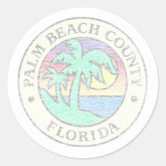Adesivo Redondo Palm Beach County