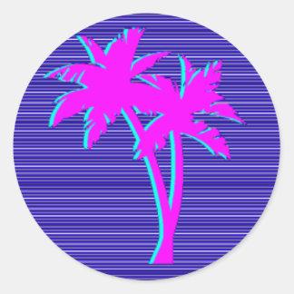 Adesivo Redondo Palmeira de néon