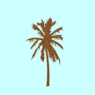 Palmeira Com Ondas Vinil Adesivo Decalque você escolhe o tamanho e 20 cores para escolher a partir