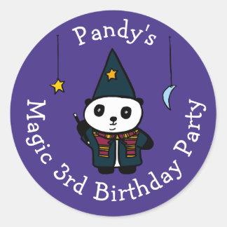 Adesivo Redondo Pandy personalizado a festa de aniversário da