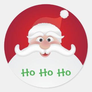 Adesivo Redondo Papai Noel lustroso, grande, 3 avança (a folha de