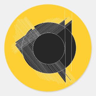 Adesivo Redondo para gravado (design geométrico)