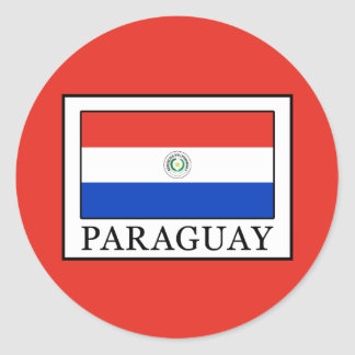 Adesivo Redondo Paraguai
