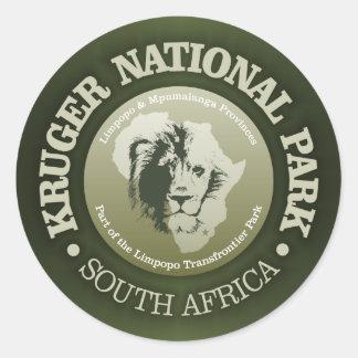 Adesivo Redondo Parque nacional de Kruger