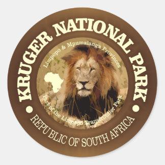 Adesivo Redondo Parque nacional de Kruger (c)
