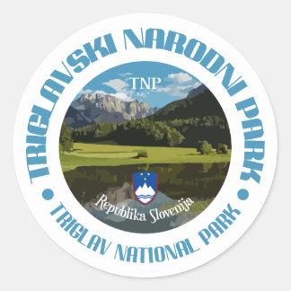 Adesivo Redondo Parque nacional de Triglav