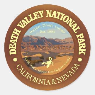 Adesivo Redondo Parque nacional de Vale da Morte