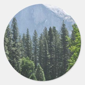 Adesivo Redondo Parque nacional de Yosemite