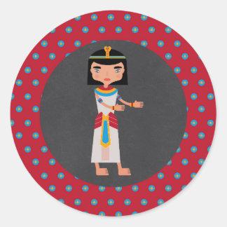 Adesivo Redondo Partido de aniversário de criança egípcio da dança