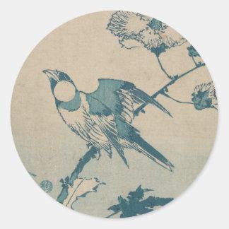 Adesivo Redondo Pássaro azul