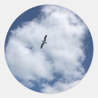 Adesivo Redondo Pássaros nas nuvens