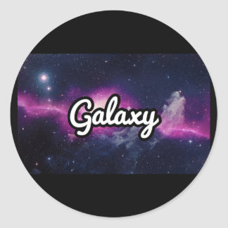 Adesivo Redondo Patinetes da galáxia