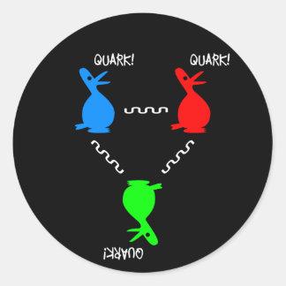 Adesivo Redondo Pato do Quark de Proton