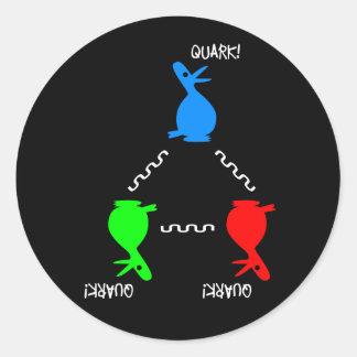 Adesivo Redondo Pato do Quark do nêutron
