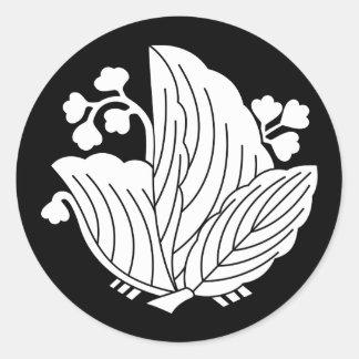 Adesivo Redondo paulownia Borboleta-dado forma