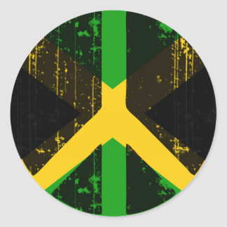 Adesivo Redondo Paz em Jamaica