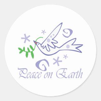 Adesivo Redondo Paz na terra