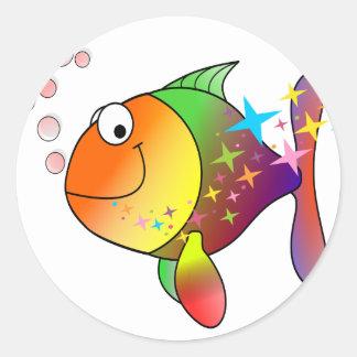 Adesivo Redondo Peixes de atum do Oceano Pacífico da cor do