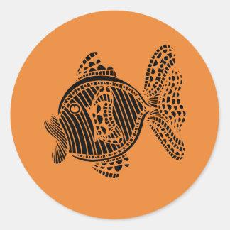 Adesivo Redondo Peixes estilizados