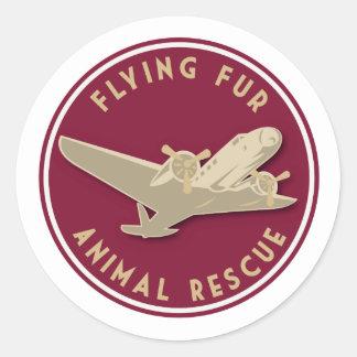 Adesivo Redondo Pele do vôo - logotipo redondo da linha aérea