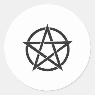 Adesivo Redondo Pentagram