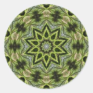 Adesivo Redondo Pequena redondo da estrela da árvore, 1 polegada
