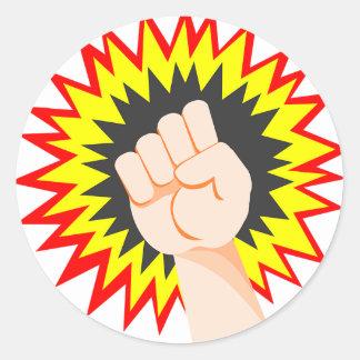 Adesivo Redondo Perfurador da energia do poder do braço da força