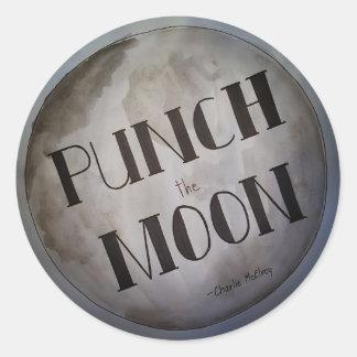 Adesivo Redondo Perfure os produtos da lua