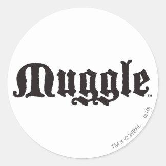 Adesivo Redondo Período | Muggle de Harry Potter