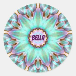 Adesivo Redondo ~ personalizado ~ do Fractal de BELLA Paua Shell