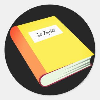 Adesivo Redondo Personalize seu livro amarelo Emoji