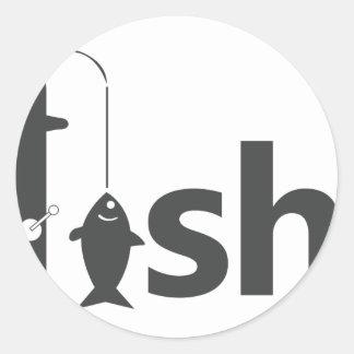 Adesivo Redondo Pesca