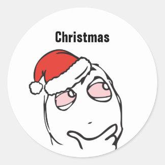Adesivo Redondo Pesque à linha Le Me Memes que pensa o Natal