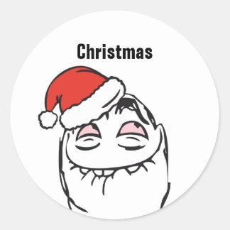 Adesivo Redondo Pesque à linha o Natal EDITÁVEL de pensamento do