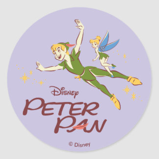 Adesivo Redondo Peter Pan & Tinkerbell