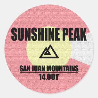 Adesivo Redondo Pico da luz do sol
