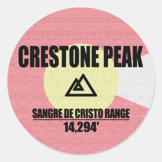Adesivo Redondo Pico de Crestone